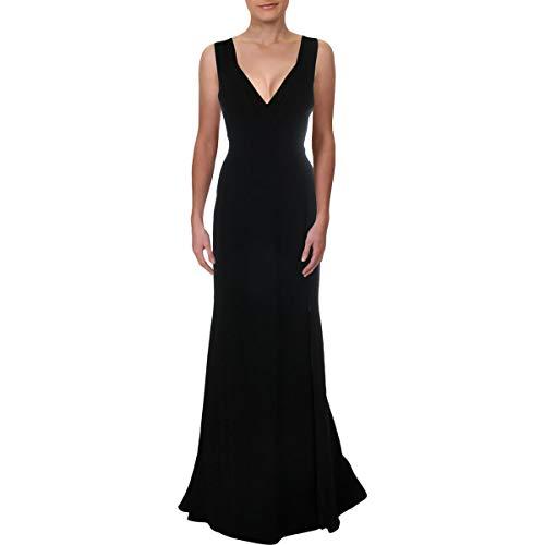 Elie Tahari Womens Marvela Illusion Chain Evening Dress Black 12