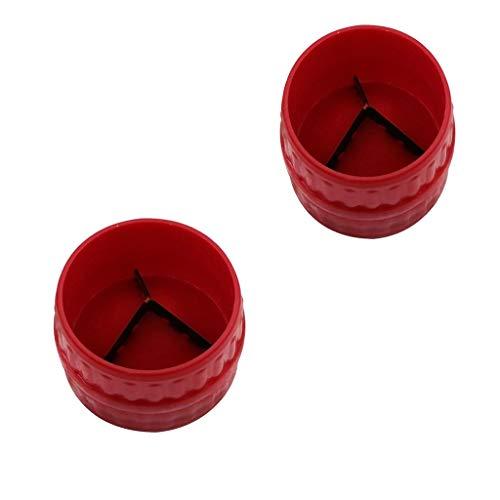 FutuHome 2 Stü Innen Außen Reibahle Rohr Grat Reinigungswerkzeuge Für Kupfer/Messing/Aluminium Rohre 3/16 Zoll Bis 1 1/2 Zoll