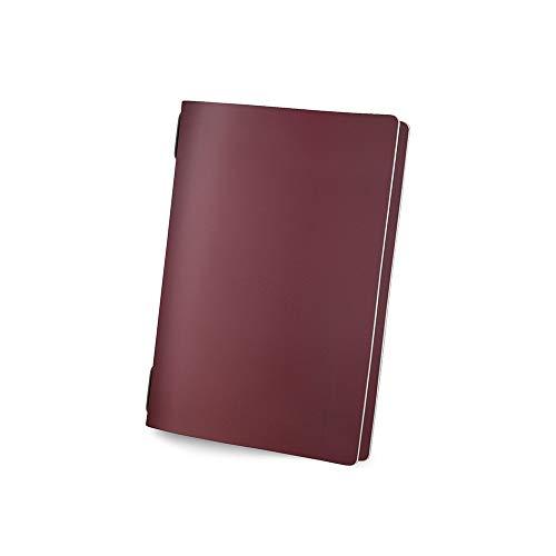 Menuhoes van echt leer DIN A5 GOLFO Kleur: bordeaux – 2 inzetstukken – 1,2