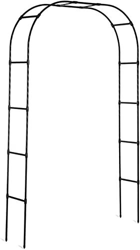 ETNLT-FCZ Arco De Jardín Subiendo Las Plantas Arco De Metal para Rosales Arco para Enredaderas, Jardín Al Aire Libre, Césped Trasero, Maleza (Color : Black, Size : 180x240cm)