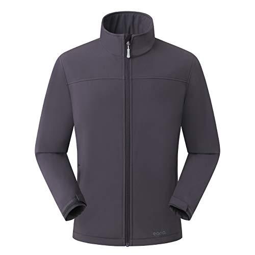 Amazon Marke: Eono Essentials Herren-Softshell-Jacke, Übergangsjacke - X-Large, Dunkelgrau