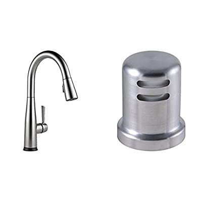 Delta Faucet Essa Single-Handle Touch Kitchen Sink Faucet with Pull Down Sprayer, Touch2O Technology and Magnetic Docking Spray Head, Arctic Stainless 9113T-AR-DST & Kitchen Air Gap, Arctic Stainless