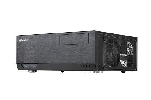SilverStone Technology Grandia Series Aluminum HTPC Computer Case for ATX / SSI-CEB - Black (GD09B)