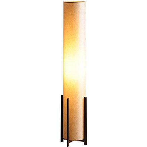 Ywyun Lampe de plancher créative minimaliste moderne, lampes de chevet de chambre à coucher droite droite d'étude de salon, abat-jour de lampe de lin