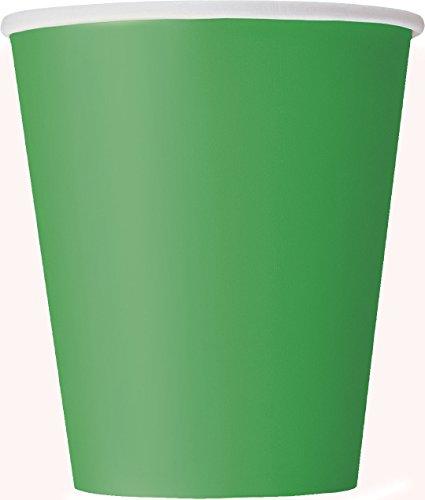 Papierbecher - 266 ml - Smaragdgrün - 14er-Pack