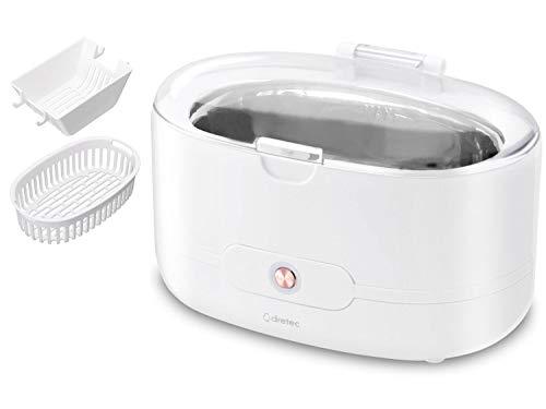 dretec(ドリテック) 超音波洗浄機 洗浄カゴ・洗浄ホルダー付 メガネ 時計 貴金属 入れ歯 花粉対策