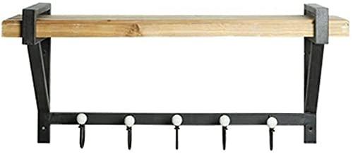 TUHFG Estantes de ducha Decoración de pared Diseño Vintage Metal Hierro Estante de Pared Estantes de Madera Colgante de Pared Loft Montado en Pared Clapboard Estantería Soporte de Almacenamiento