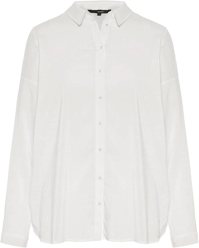 Vero Moda Vmerika L/S Oversize Shirt Noos Blusa para Mujer