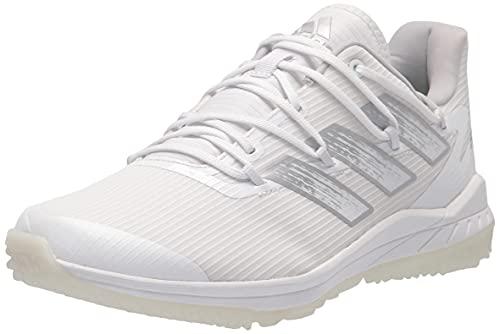 adidas Men's Adizero Afterburner 8 Turf Baseball Shoe, White/Silver Metallic/Team Light Grey, 6.5
