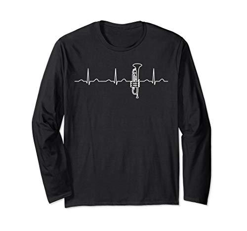 Heartbeat Perinet Trompetenbekleidung, Jazz-Trompeter Langarmshirt