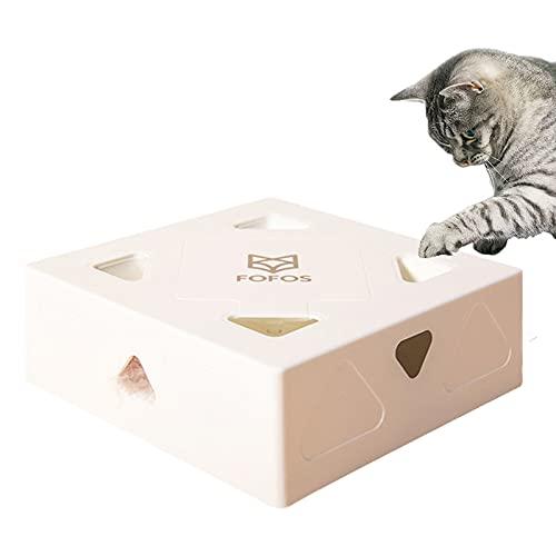HOWIN FOFOS Interaktives Elektrischer Katzenspielzeug, Katzenspielzeugh, Intelligenzspielzeug für Cat Haustiereignung, für im Innenbereich Amusement Jagen (Inklusive Batterie, Ersatz Federwedel)