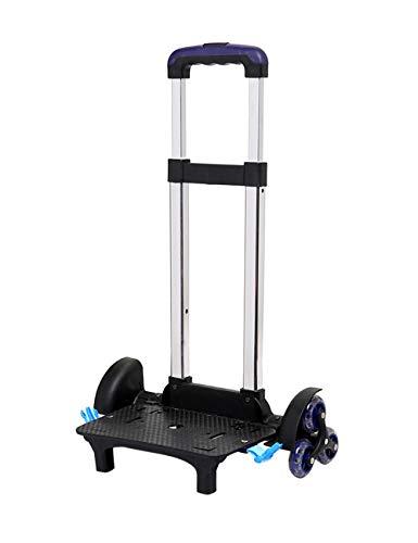 besbomig Carrello per Zaino di Scuola Trolley per Zaino Portata 50 Kg Pieghevole Resistente Carrello Portavaligie con 6 Ruote (38 x 25 x 84 cm)
