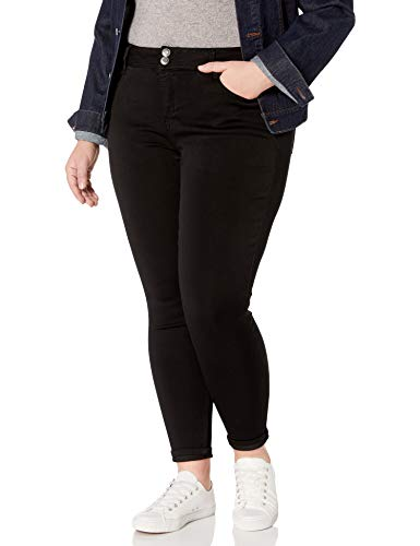 Angels Forever Young Women's Size Curvy Skinny Jeans, Onyx/Black, 18 Plus