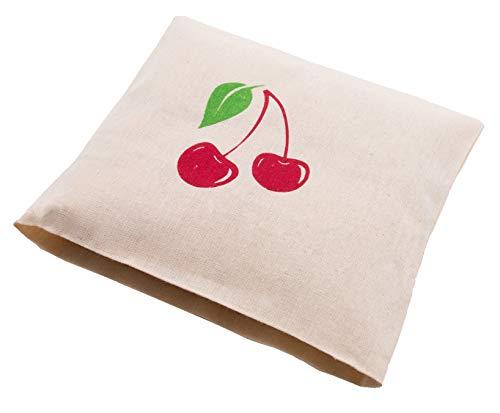 ZOLLNER24 cuscino termico con noccioli di ciliegia, ca. 21x21 cm