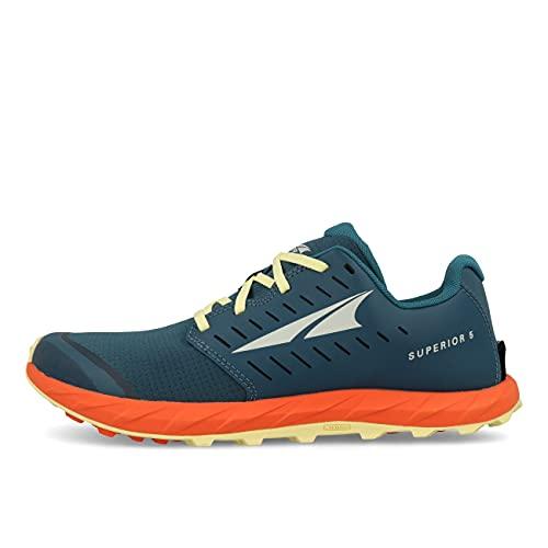 ALTRA Men's AL0A546Z Superior 5 Trail Running Shoe, Blue/Orange - 10.5 M US
