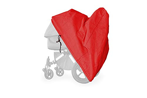 softgarage buggy softcush rot Abdeckung für Kinderwagen Teutonia Cosmo Regenschutz Regenverdeck