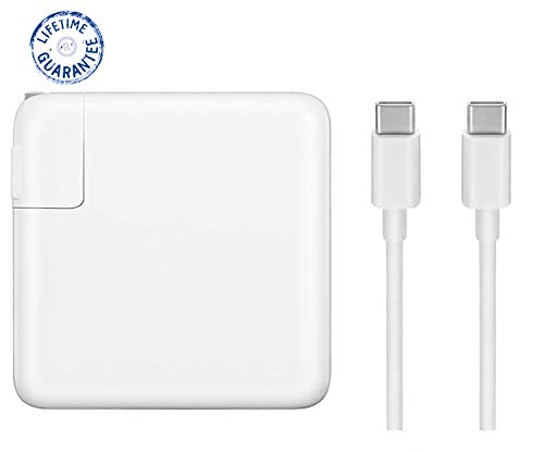 96W MacBook Pro Charger, Replacement USB-C to USB-C Ac Power Adapter Charger Compatible with MacBook Pro 16 Inch 2019 15 Inch 13 Inch
