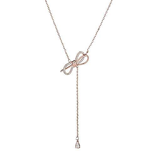 YZXYZH Collar Bowknot Collar Femenino Cadena De Clavícula