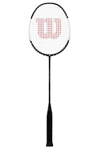 Wilson WRT8948004 Raquette de Badminton, Blaze S3700, Unisexe, Taille du Manche: 4, Équilibre en Tête, Noir/Blanc