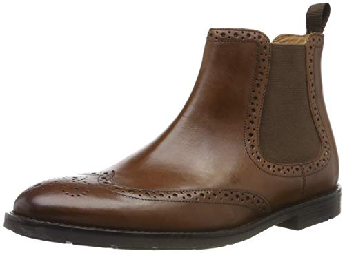 Clarks Men's Ronnie Top Chelsea Boots, Braun (British Tan Leather), 41 EU