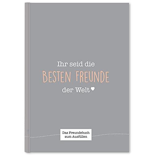 CUPCAKES & KISSES® Freundebuch zum Ausfüllen I Gästebuch für meine Freunde I Kinder & Erwachsene...