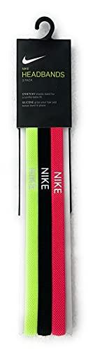 Nike Diademas unisex para adultos, paquete de 3 unidades N067 648
