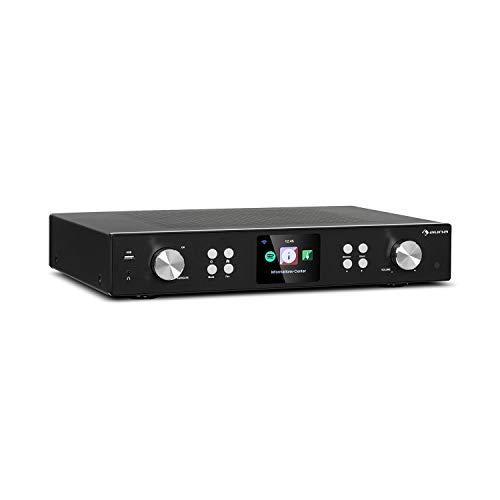 auna iTuner 320 ME - sintonizador Digital HiFi con Bluetooth y WiFi, Spotify Connect, Internet-, sintonizador Dab+ y FM con conexión a Internet, DLNA & UPnP, USB, Reproductor de Red, Negro
