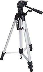 camera tripod mount is an 50 inches tripod. this is a amazon basics tripod. This is almost 50-inches tripod adjustable height tripod made of the lightweight aluminum weight just over a pound It has a 3-way head allows for tilt and several motion with portrait or landscape option.