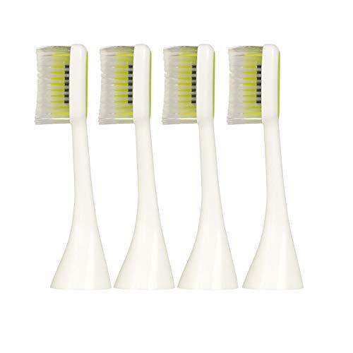 Silk'n ToothWave Zahnbürstenaufsatz soft, Lang (groß), 4er Set, Weiß, Ersatzbürste