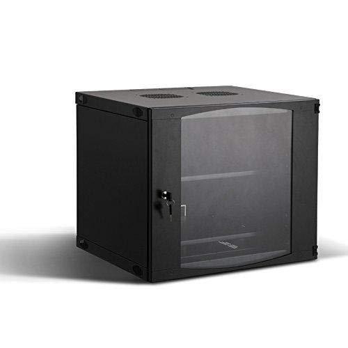 RAISING ELECTRONICS 9U Wall Mount Network Server Cabinet Rack Enclosure Plexiglass Door Lock 450mm Deep (9U)