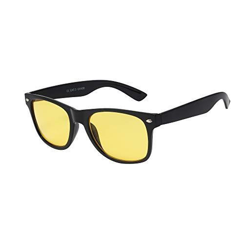 ASVP Shop Lunettes de vision nocturne anti-reflets, idéales pour la conduite de nuit, la pêche et le cyclisme