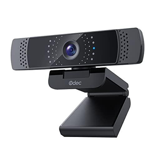 Odec Webcam 1080P Full HD con Microfono, Webcam Tutela della Privacy Compatibile con Windows, Mac e Android, Video Camera per videochiamate, studio, conferenza, registrazione e lavoro Skype, FaceTime