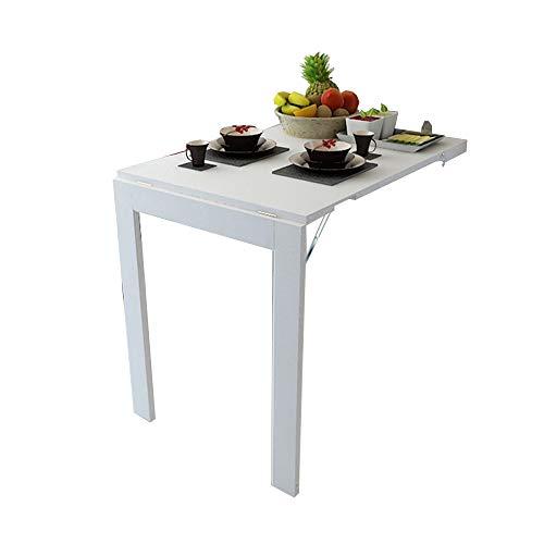 mesa plegable ZHIRONG Plegable de Pared, Marco de Fotos, Mesa de Comedor Multifuncional para Escritorio de computadora (Color : Blanco, Tamaño : 90 * 60CM)