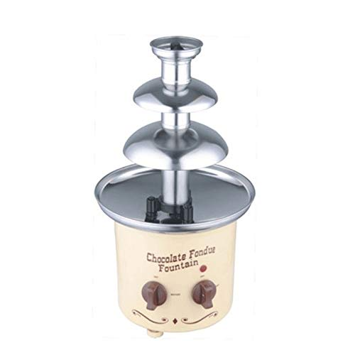 WCJ Nostalgia Chocolade Fondue Fountain, eenvoudig te monteren 3-Tiers, Perfect for Nacho Cheese, BBQ saus, Ranch, likeuren