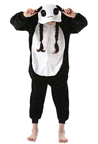 Pijama Animal Entero Unisex para Niños con Capucha Cosplay Pyjamas Ropa de Dormir Traje de Disfraz para Festival de Carnaval Halloween Navidad para Altura 90-148cm