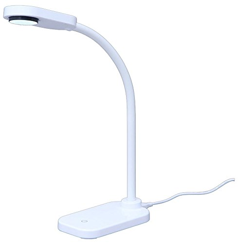 アイリスオーヤマ LEDデスクライトコンパクト USB給電 自由可動 フレキシブルアーム まぶしさガード付 高演色性 省エネ LDL-201