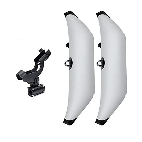 SHUWB Accesorios para Kayak PVC Infigrable Outrigger Kayak Canoa Barco de pie Estabilizador de Flotador con Giro 360 Tenedor de la caña de Pescar (Color : White)