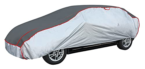 Walser Auto Hagelschutzplane Premium Hybrid PKW wasserdichte atmungsaktive Hagelschutzgarage für optimalen Hagelschutz, Größe: XXL 30972
