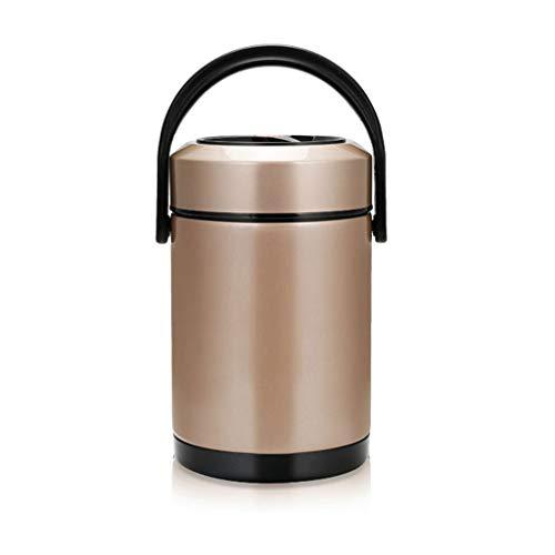 JJZXT Aislamiento de Oro Rosa Caja de Almuerzo - Diseño Moderno portátil de múltiples Capas de Metal Caja de Almuerzo del Aislamiento