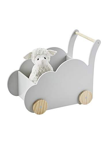 VERTBAUDET Fahrbare Spielzeugkiste,Wolke grau ONE Size