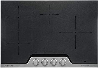 """Frigidaire Professional FPIC3077RF 30"""" ADA Compliant Induction Cooktop with 4 Elements, PowerPlus Induction Technology, SpacePro Bridge Element, and Knob Controls: Stainless Steel"""
