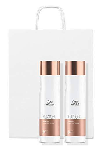 Wella Fusion Shampooing Réparation Intense Duo Pack 2 x 250 ml + Sac cadeau