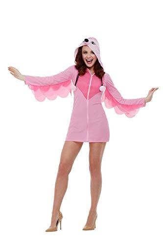 Smiffys 47774L Flamingo kostuum, dames, roze, L - UK maat 16-18