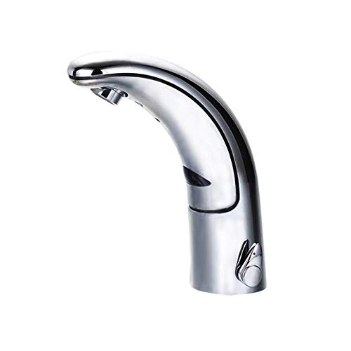 Watermeetsdesign - Waschtisch-Sensorarmatur, Kalt- und Warmwasser, integrierter Batteriebetrieb, Chrom