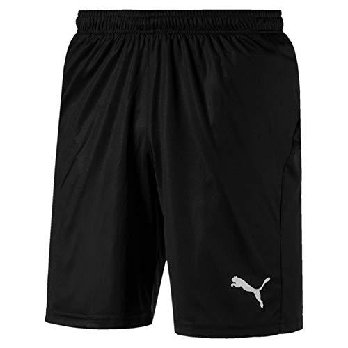 PUMA Liga Core, Pantaloncini Uomo, M, Nero (Puma Black/Puma White)