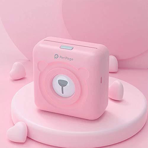 JEPOD A6 PeriPage mini imprimante de poche Bluetooth sans-fil à impression thermique et connexion USB, rose