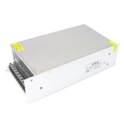 Goldyqin Fuente de alimentación LED de 220 V CA a CC con Carcasa de Metal Fuente de alimentación conmutada CC 48 V 15 A 720 W Práctico y útil - Blanco