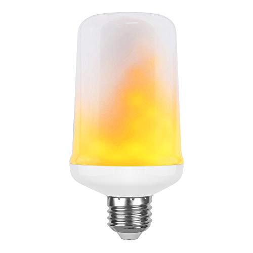 GEGEE LED Flame Effect Light Bulbs with 1 Modes, E26 Base 1300K, Flickering Fire Vintage Flaming Atmosphere Decorative Lamps for Home, Christmas, Valentine's and Parties(1 Pack)