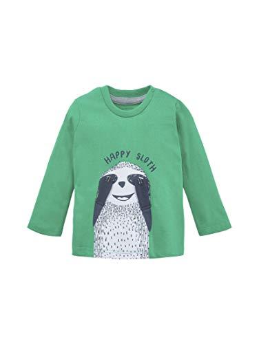 TOM TAILOR Kids Baby-Jungen Placed Print T-Shirt, Grün (Simply Green 5010), (Herstellergröße: 68)