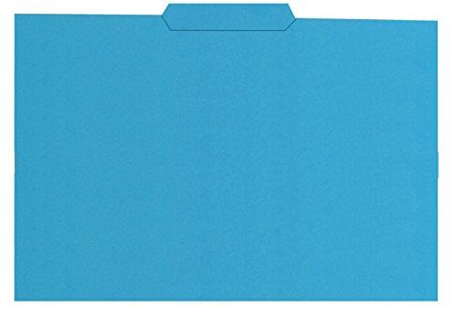 Elba Gio - Pack de 50 subcarpetas con pestaña central, color azul